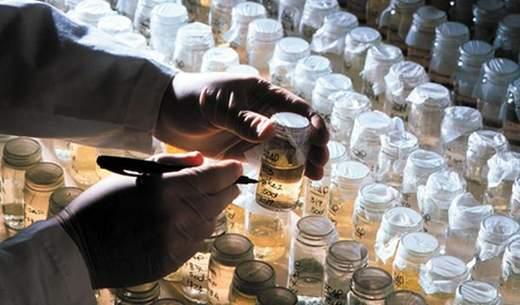 Die Wasser-Aktie des französischen Versorger GDF Suez ist in vielen Wasserfonds enthalten. Im Bild Proben zur Prüfung von Wasserqualität in einem Labor von Suez. / Foto: Unternehmen