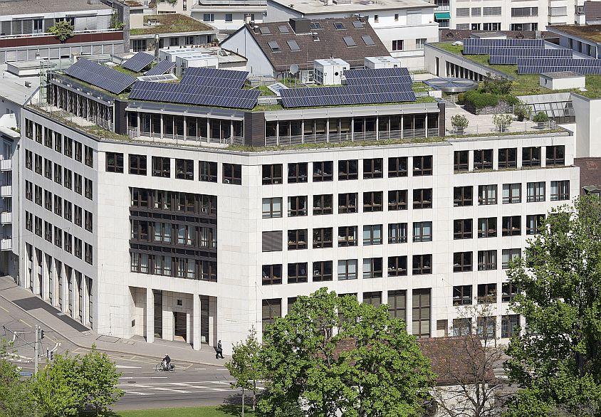 Architekturaufnahmen Frühlingsstimmung, Bank Sarasin, Hauptsitz Basel, Elisabethenstrasse 62