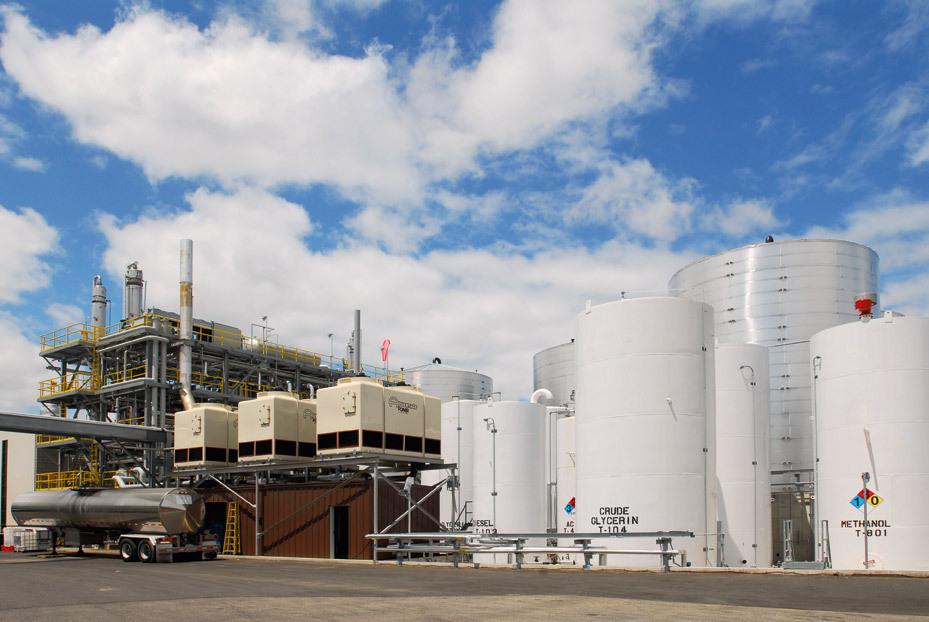 Biodieselraffinerie der Renewable Energy Group: Die Aktie des US-Unternehmens gehört zu den größten Beteiligungen des DNB Renewable Energy. / Foto: Unternehmen