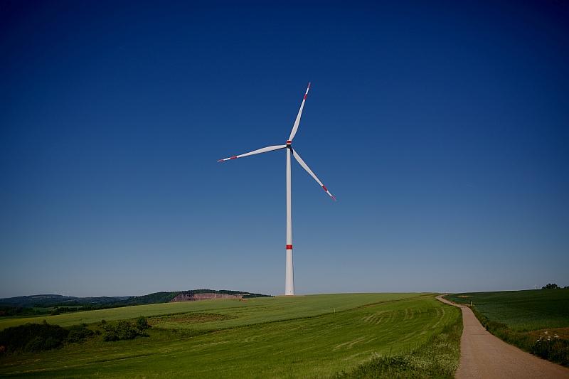 Der Windpark Gischberg versorgt ca. 4.730 Haushalte pro Jahr mit Ökostrom. / Foto: Mark Mühlhaus