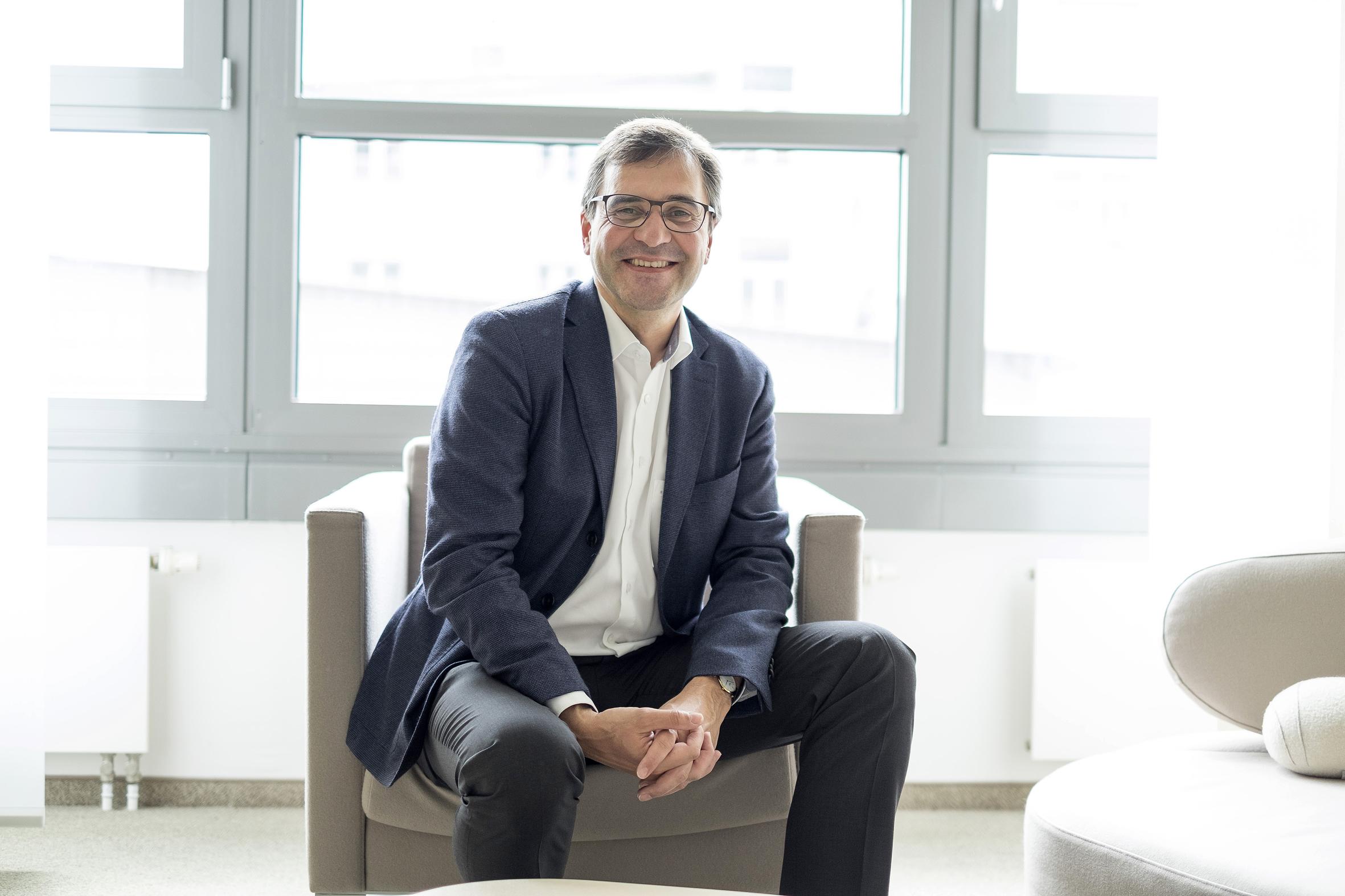 Georg Schürmann ist Geschäftsleiter der nachhaltigen Triodos Bank Deutschland. / Foto: Triodos