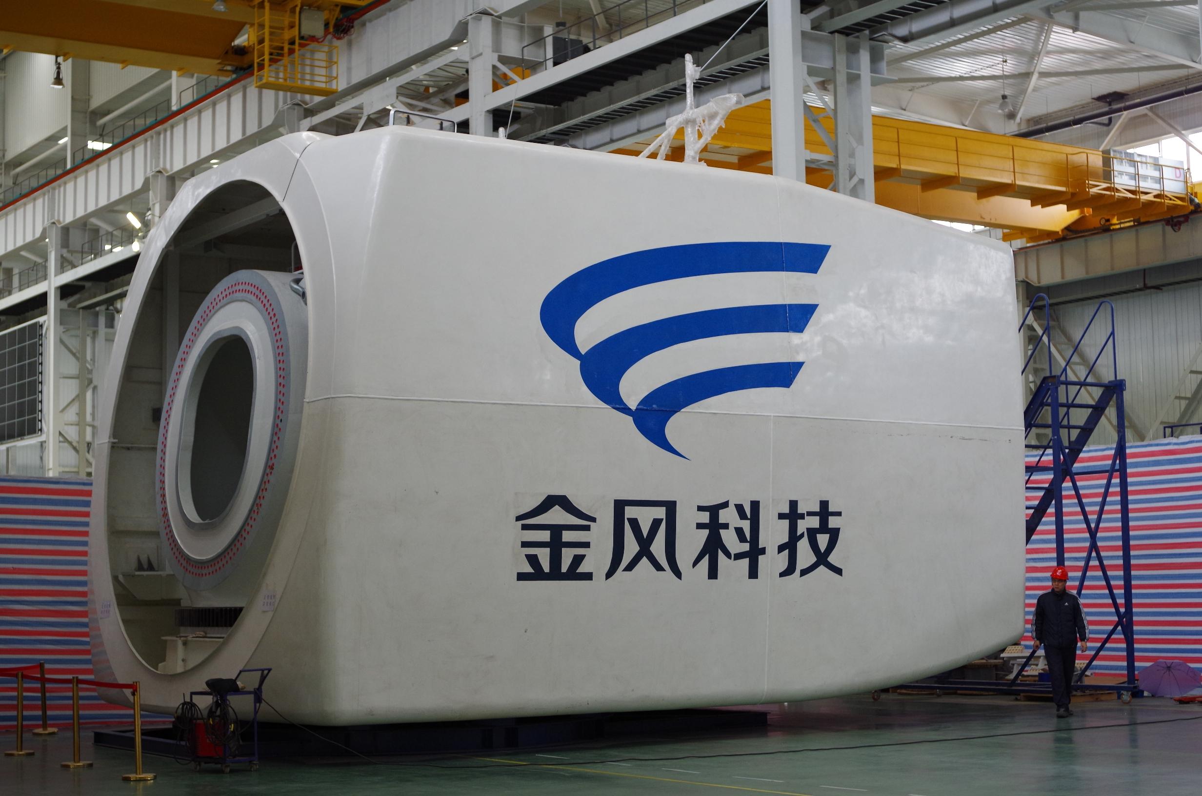 Windkraftgondel des chinesischen Herstellers Goldwind: Das Unternehmen ist der führende Windradbauer in China, dem weltweit größten Windmarkt. / Foto: Unternehmen