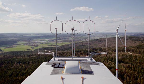 Gondel einer Anlage des Windparks Bürgerwald von Green City Energy. / Foto: Mark Mühlhaus, Green City Energy
