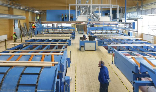 Ökoworld Ökotrust, im Februar erfolgreichster nachhaltiger Mischfonds, ist unter anderem in Aktien von Holmen aus Schweden investiert. Im Bild ein Sägewerk des Papierherstellers. / Quelle: Holmen AB