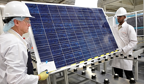 Wie geht es weiter mit der Aktie von Canadian Solar. Im Bild: die Produktion. / Foto: Canadian Solar