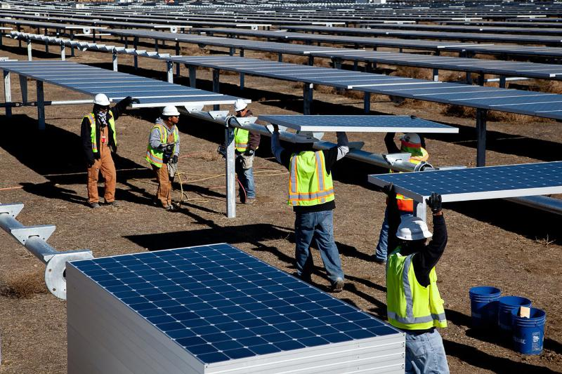 Photovoltaik-Installationen von SunPower in Kalifornien. / Foto: Unternehmen