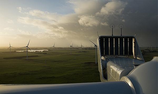 Windpark mit Anlagen von Vestas